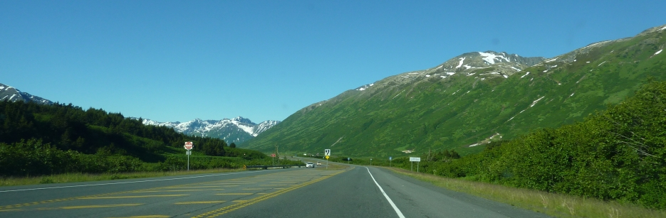 Driving down Turnagain Arm